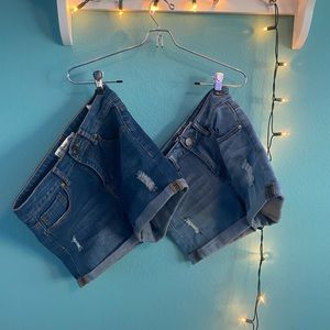 2 Pairs of Indigo Rein Denim shorts